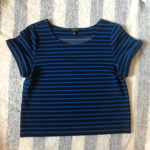 The Limited Black and Blue stripped shirt
